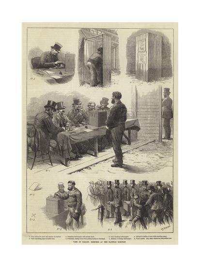 Vote by Ballot, Sketches at the Taunton Election-Charles Joseph Staniland-Giclee Print