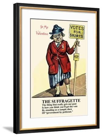 Vote For Skirts--Framed Art Print