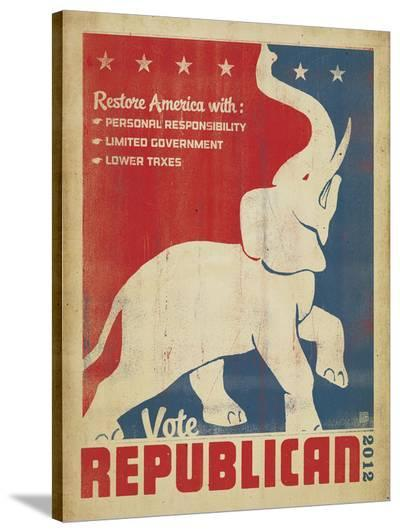 Vote Republican (Elephant)-Anderson Design Group-Stretched Canvas Print