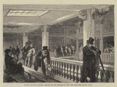Voting for the National Assembly in the Theatre of the Deaf and Dumb Asylum, Paris--Giclee Print