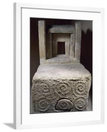 Votive Altar with Spiral Decorations, from the Tarxien Temples--Framed Giclee Print
