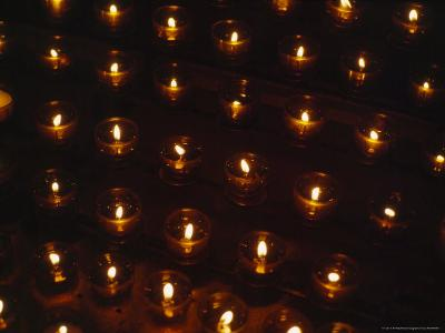 Votive Candles Send the Prayers of the Faithful Towards Heaven-Taylor S^ Kennedy-Photographic Print
