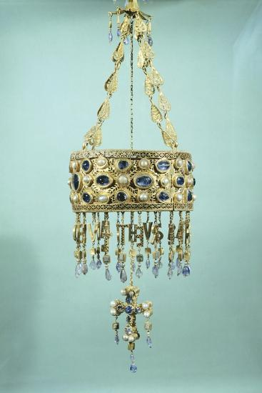 Votive Crown in Gold and Precious Stones from the Treasure of Guarrazar--Giclee Print
