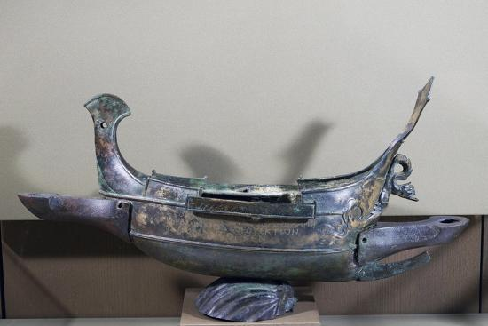 Votive Ship in Bronze Transformed into Lamp, 232 Ad--Giclee Print