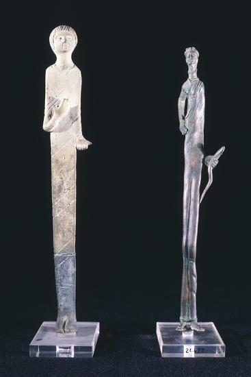 Votive Statues in Bronze Depicting Haruspex Offerers. Etruscan Civilization--Giclee Print