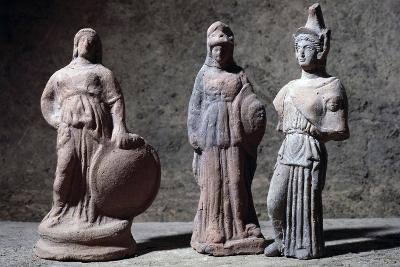 Votive Statuettes in Terracotta Depicting Athena--Giclee Print