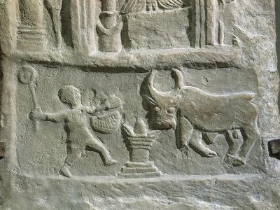Votive Stele with Reliefs Containing Elements of Berber--Giclee Print