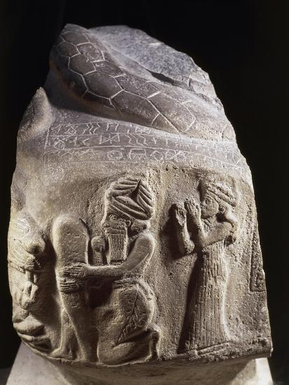 Votive Stone Representing Puzur, Prince of Susa, Viceroy of Elam, 2200 B.C.--Giclee Print