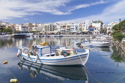 Voulismeni Lake, Agios Nikolaos, Crete, Greek Islands, Greece, Europe-Markus Lange-Photographic Print
