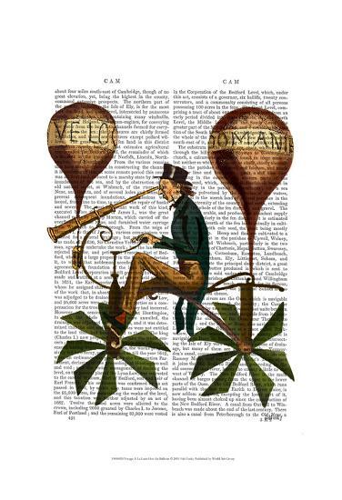 Voyage A La Lune Hot Air Balloon-Fab Funky-Art Print