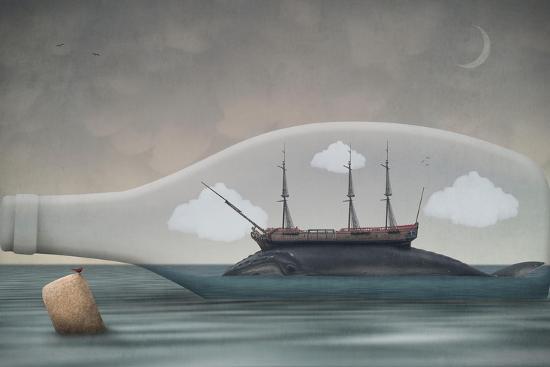 Voyage in a Bottle-Greg Noblin-Premium Giclee Print