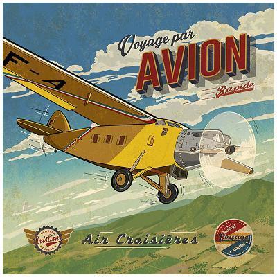 Voyage par avion-Bruno Pozzo-Art Print