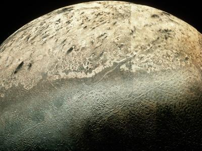 Voyager 2 Photomosaic of Neptune's Moon Triton--Photographic Print