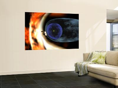 Voyager 2 Spacecraft Studies the Outer Limits of the Heliosphere--Wall Mural