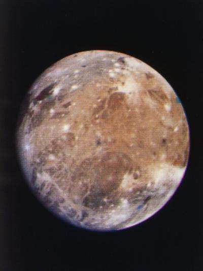 Voyager I Photo of Ganymede, Jupiter's Third Moon--Photographic Print