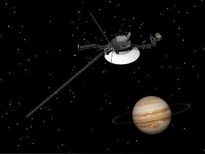 Voyager Spacecraft Near Jupiter and its Unrecognized Ring--Art Print