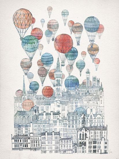 Voyages Over Glasgow-David Fleck-Art Print