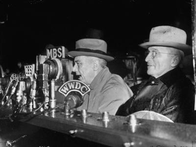 Vp Harry S. Truman Listening to FDR Radio Address
