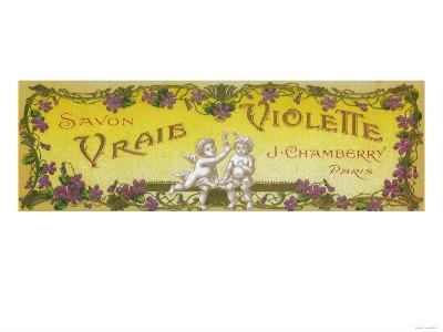 Vraie Violette Soap Label - Paris, France-Lantern Press-Art Print