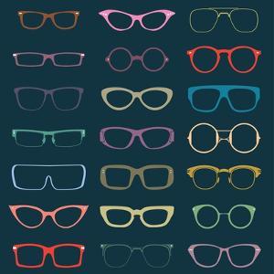 Vintage Glasses Silhouettes by vreddane