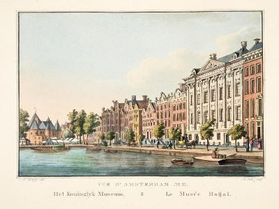Vue D'Amsterdam No.11, Het Koninglyk Museum, Le Musée Roijal, 1825-Cornelis de Kruyff-Giclee Print