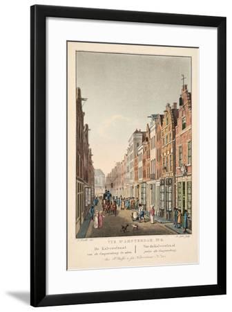 Vue D'Amsterdam No.2. De Kalverstraat Van De Gappersteeg Te Zien. Vue Du Kalverstraat Prise Du Gaap--Framed Giclee Print
