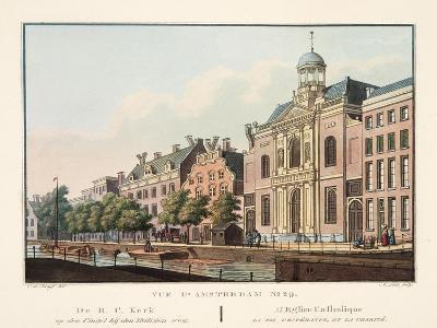 Vue D'Amsterdam No.29. De R.C. Kerk Op Den Cingel Bij Den Heiligen Weg. L'Eglise Catholique La Foi-Cornelis de Kruyff-Giclee Print
