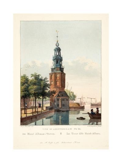 Vue D'Amsterdam No.32. De Mont Albans-Toren. La Tour Dite Mont-Alban, 1825-Hendrik Gerrit ten Cate-Giclee Print