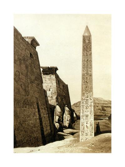 Vue De Cote, Luxor, Thebes, Egypt, 1841-Hector Horeau-Giclee Print