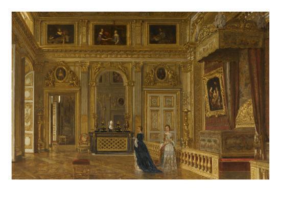 Vue De La Chambre A Coucher Du Roi Louis Xiv A Versailles En 1861