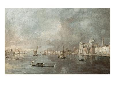 Vue de la Giudecca avec les Zattere-Francesco Guardi-Giclee Print