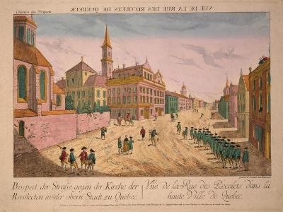 Vuë De La Rue Des Recolets De Quebec, Published C.1770S-Franz Xavier Habermann-Giclee Print