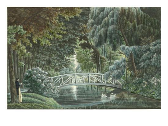 Vue  de Malmaison : vue du château prise du pont de pierre-Auguste Garneray-Giclee Print