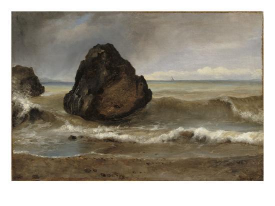 Vue de mer, à Salerne-Achille Etna Michallon-Giclee Print