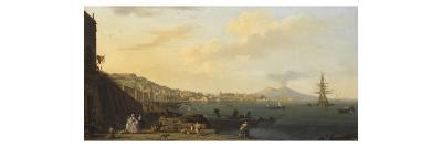 Vue de Naples avec le Vésuve-Claude Joseph Vernet-Giclee Print