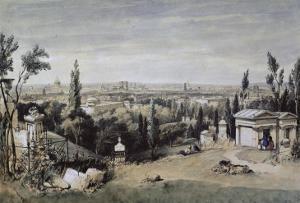 Vue de Paris prise du cimetière de Père Lachaise