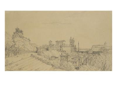 Vue de Rome prise du Pincio-Victor Baltard-Giclee Print