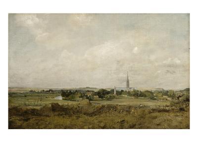 Vue de Salisbury-John Constable-Giclee Print