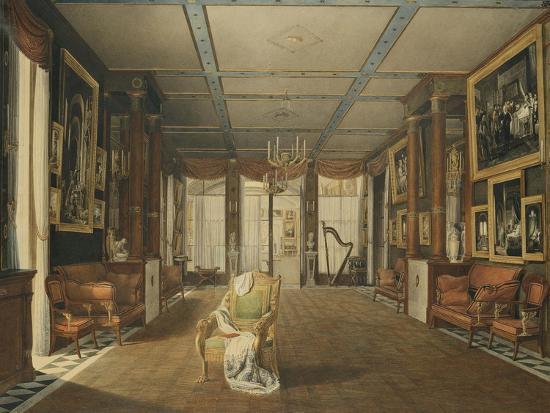 Vue de Salon de musique de Joséphine-Auguste Garneray-Giclee Print