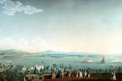 Vue De Scutari Prise À Perá Ca. 1803-1809-Antoine Ignace Melling-Giclee Print