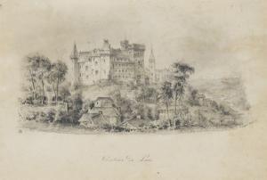 Vue du château de Pau depuis l'ouest