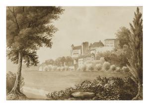 Vue du château de Pau depuis le Gave