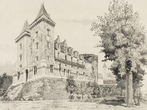 Vue du château de Pau (prise de la promenade)