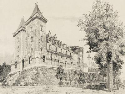 Vue du château de Pau (prise de la promenade)--Giclee Print