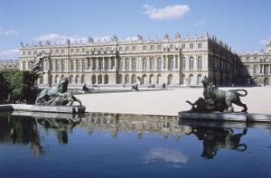Vue du château de Versailles, côté parc