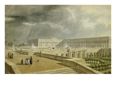 Vue du château de Versailles et de l'Orangerie depuis les Cent Marches sous Louis-Philippe--Giclee Print