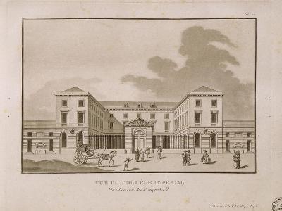 Vue du collège impérial, place Cambrai, rue Saint-Jacques (Collège de France)--Giclee Print