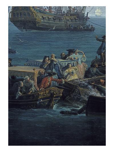 Vue du Golfe de Bandol, pêche au thon-Claude Joseph Vernet-Giclee Print