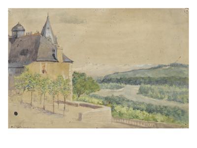 Vue du Parlement de Navarre--Giclee Print