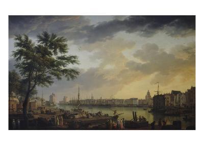 Vue du port de la Rochelle-Claude Joseph Vernet-Giclee Print